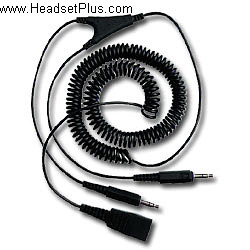 GN Netcom Headset to PC Sound Card Cable dual 3.5mm