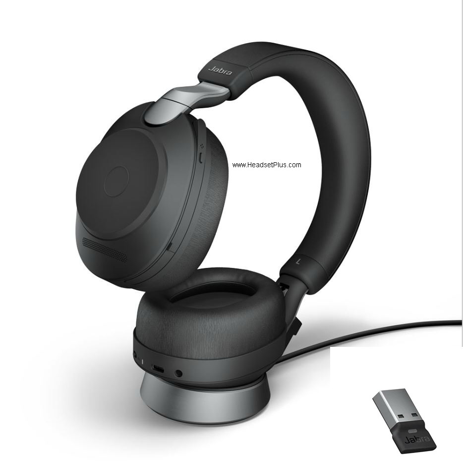 Jabra Evolve2 85 MS Teams Stereo Bluetooth USB-A Headset w/Stand