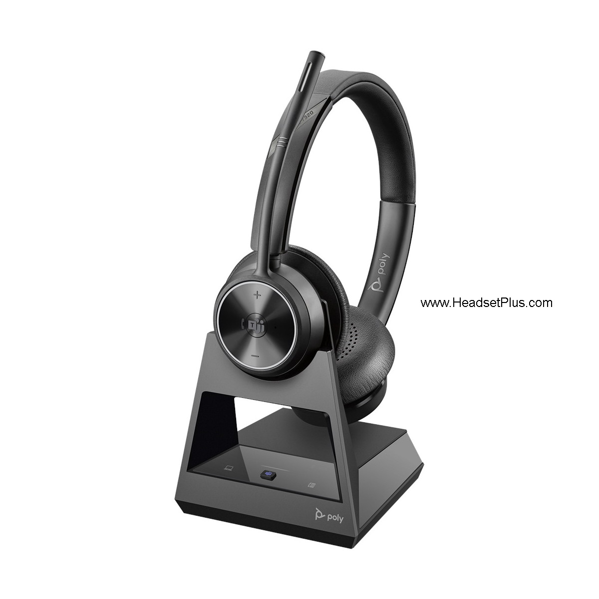 Poly Savi 7320 Office Stereo Wireless Headset, deskphone and PC