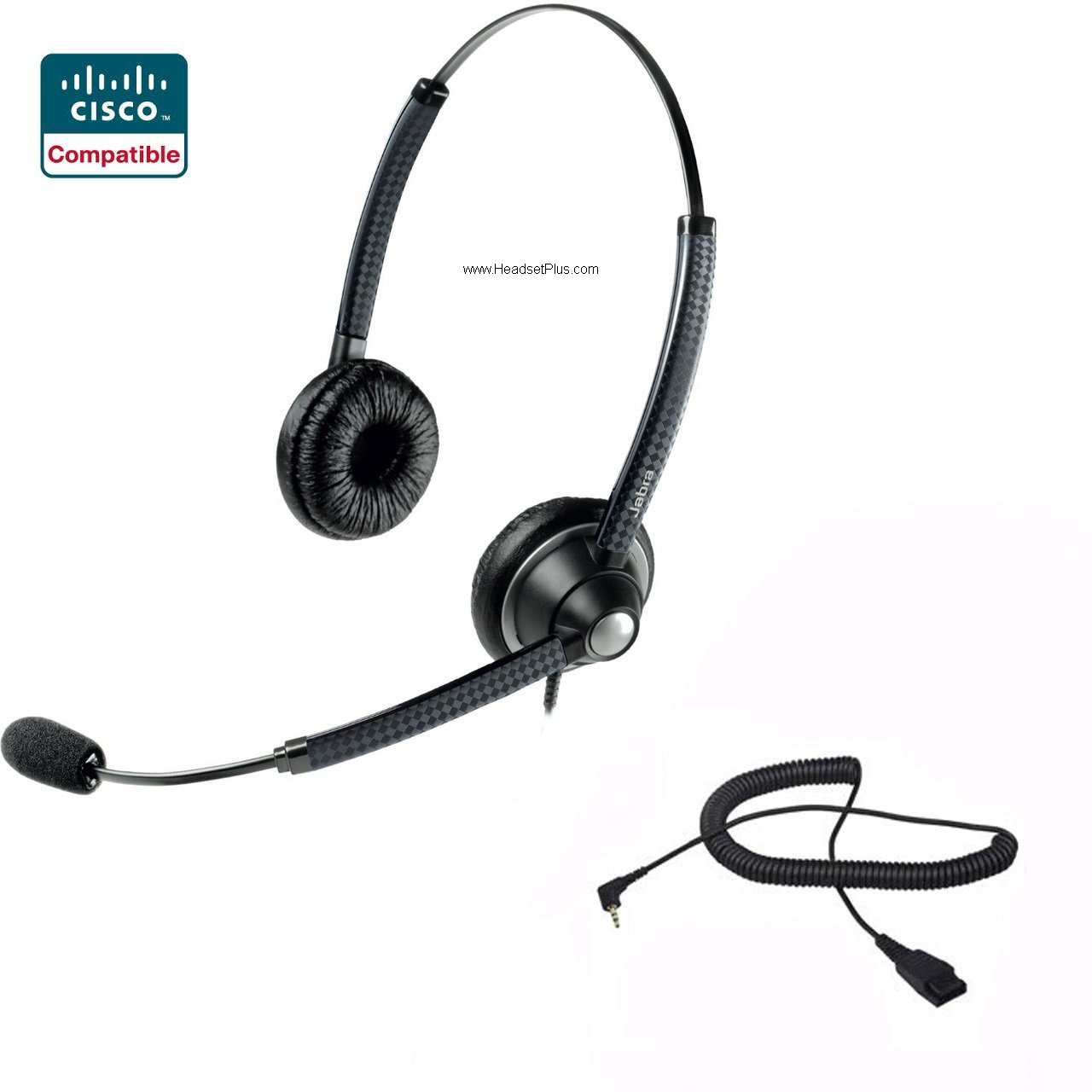 Jabra Biz 1925 Duo Cisco SPA 303, 5xx, 9xx Headset *Discontinued