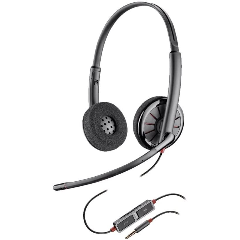 Plantronics Blackwire 225 C225 Stereo 3.5mm Headset