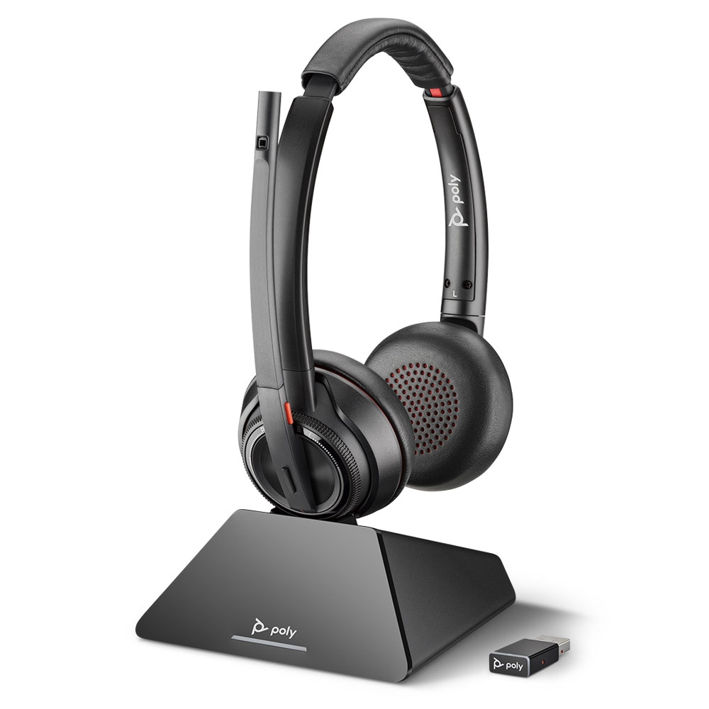Poly Savi 8220 UC Stereo USB Wireless Computer Headset
