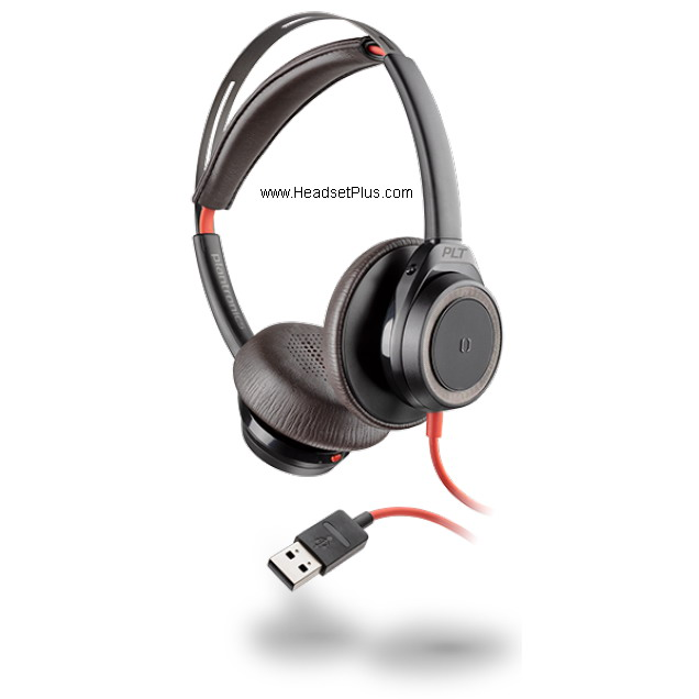 Plantronics Blackwire 7225 USB Stereo Corded Headset, Black