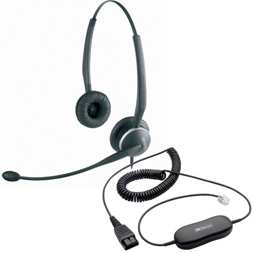 Jabra GN2125 Direct Connect Noise Canceling binaural headset