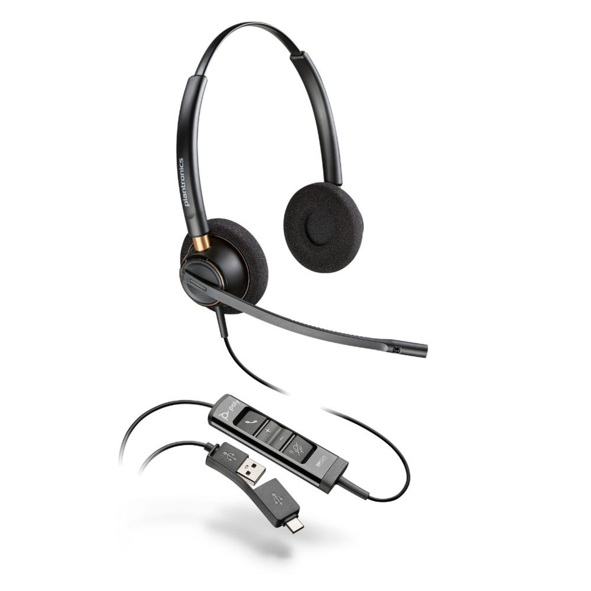 Poly EncorePro EP525 USB-A, USB-C stereoheadset