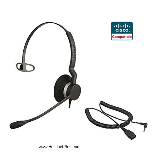 plantronics wireless headset archives headsetplus com jabra biz 2300 mono cisco spa 303 5xx 9xx certified headset