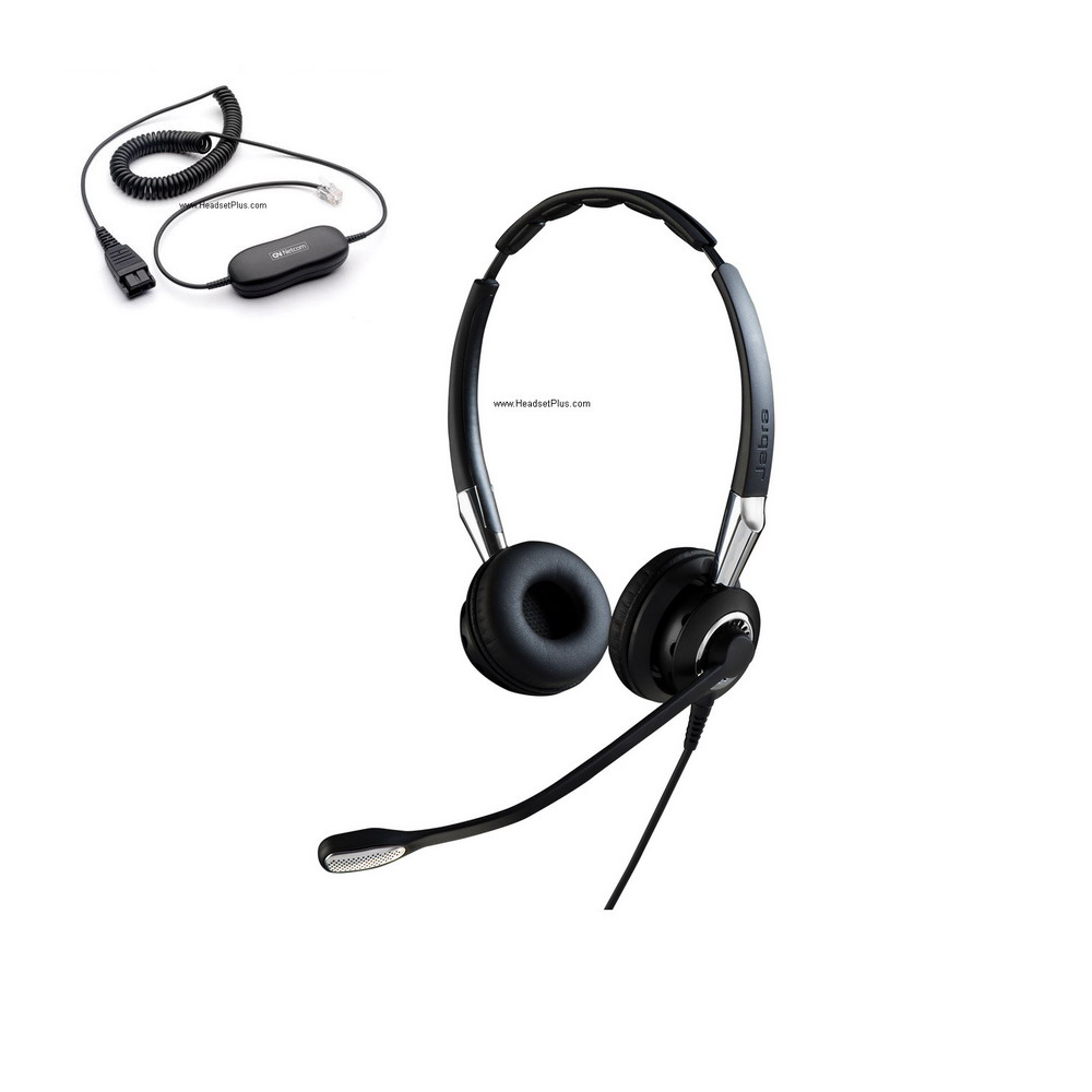 Jabra Biz 2400 II Duo Ultra Noise Canceling Direct Connect Heads