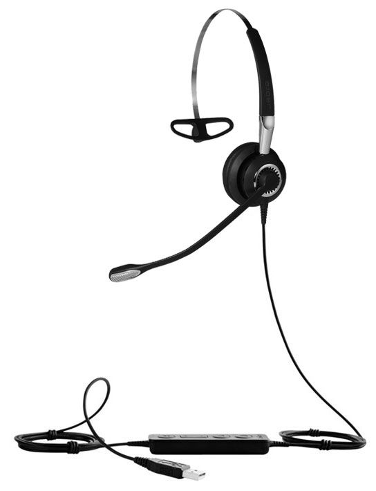 Jabra Biz 2400 II Mono MS 3-in-1 USB Computer Headset, MS Teams