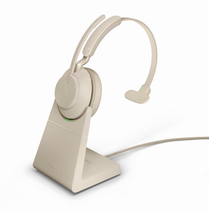 Jabra Evolve2 65 Uc Usb C Mono Bluetooth Headset W Stand Beige 26599 889 888