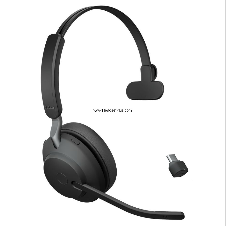 Jabra Evolve2 65 MS Mono Bluetooth Headset USB-C Microsoft Teams