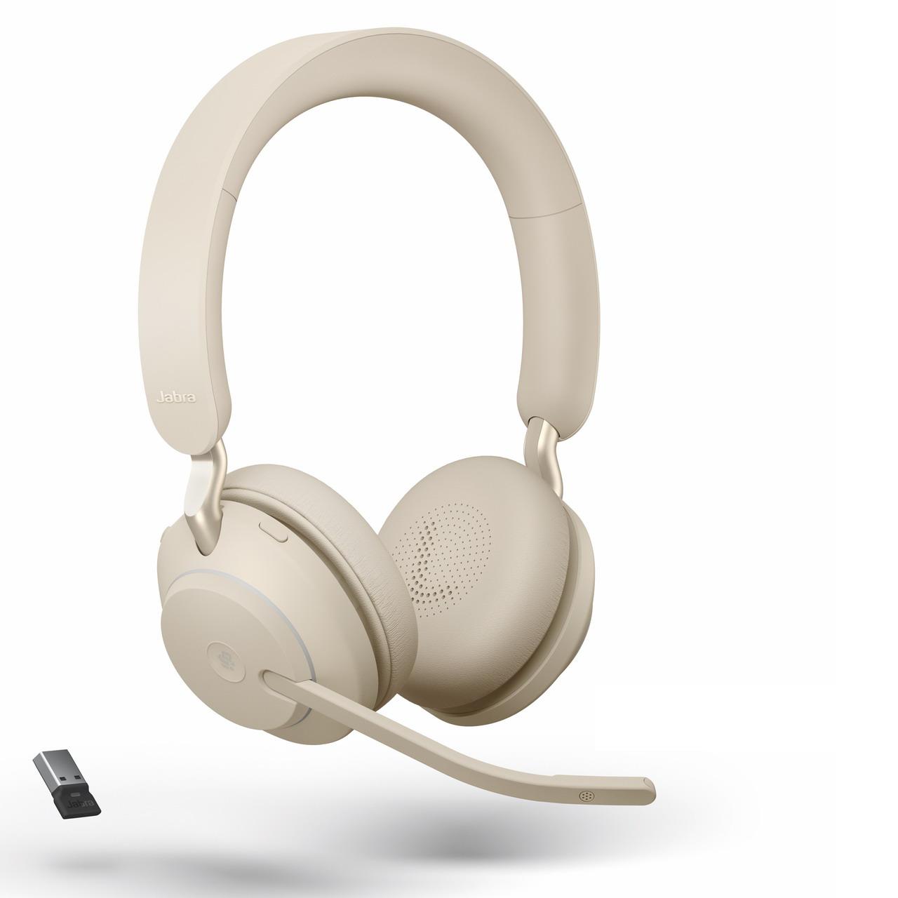 Jabra Evolve2 65 Uc Usb A Bluetooth Stereo Headset Beige 26599 989 998