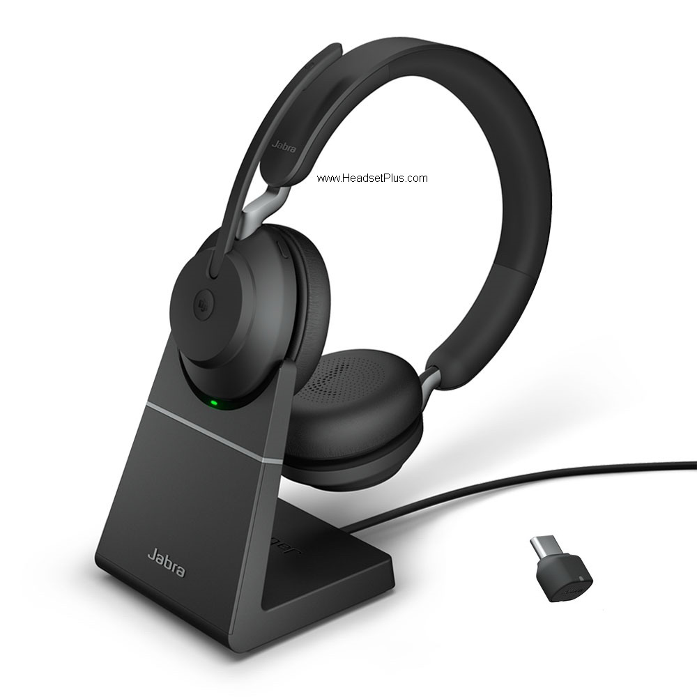 Jabra Evolve2 65 MS Stereo Bluetooth USB-C Headset w/Stand