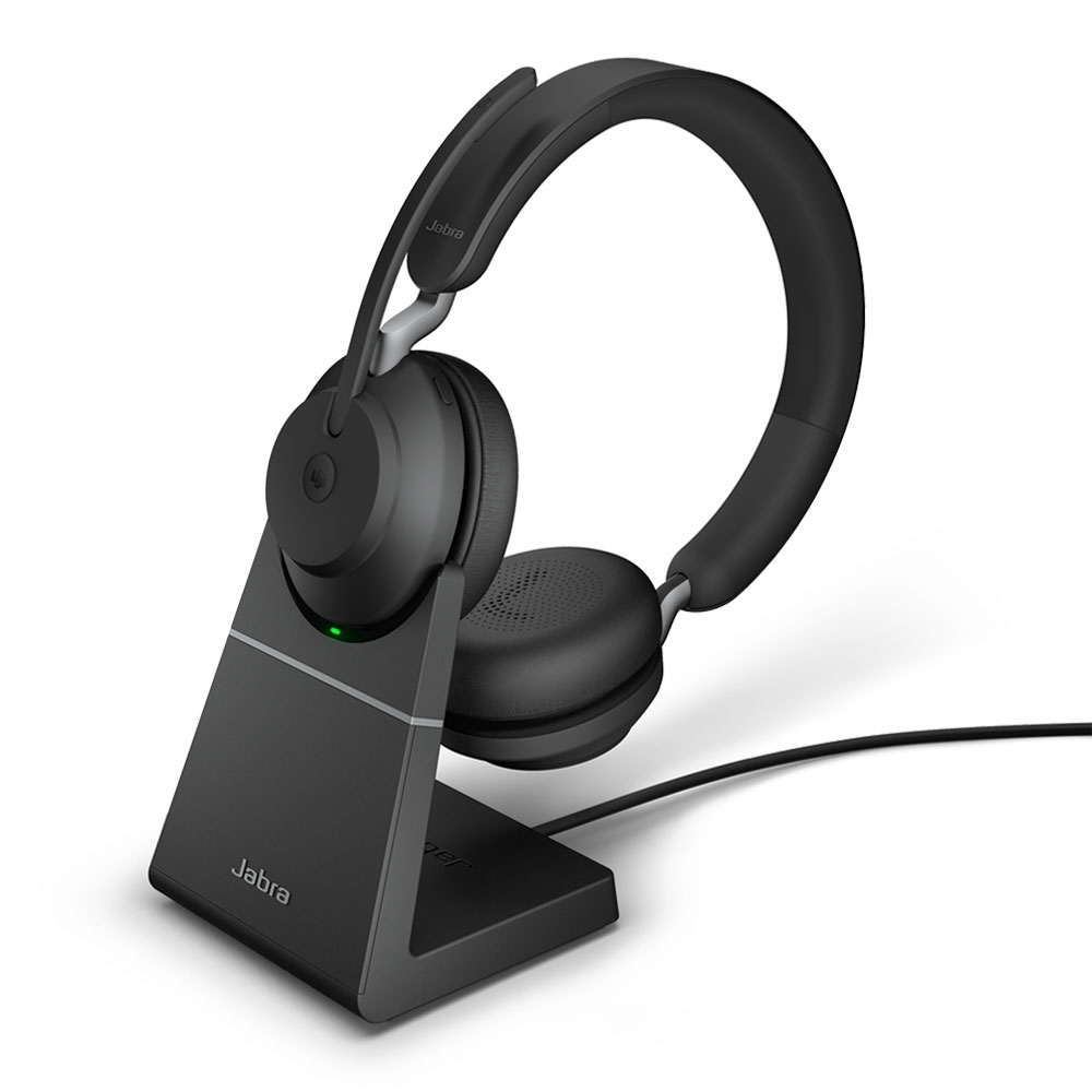 Jabra Evolve2 65 Uc Usb A Over The Head Bluetooth Stereo Headset W Stand 26599 9
