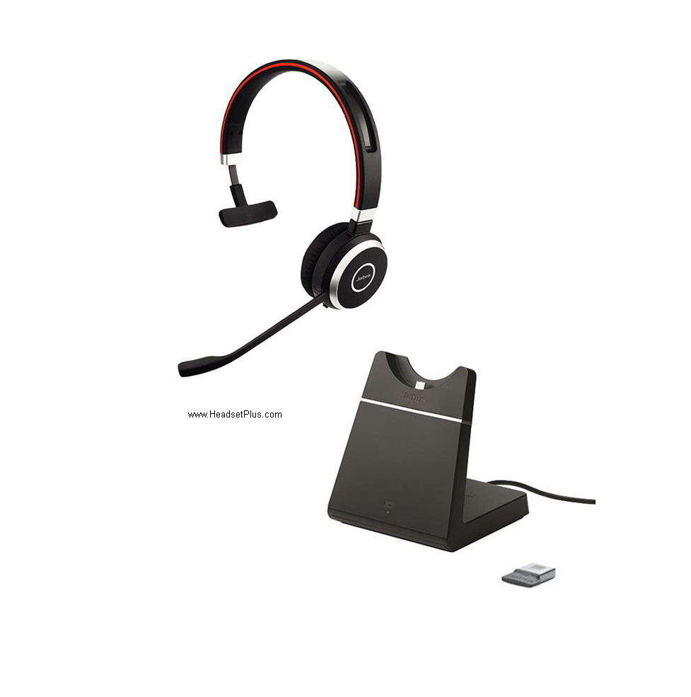 Jabra EVOLVE 65 MS Mono USB Bluetooth Headset w/charging stand
