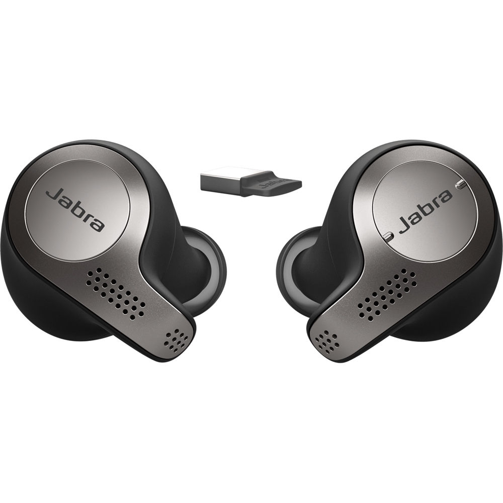 Jabra EVOLVE 65T MS Stereo USB Bluetooth Earbuds w/Link 370 MS