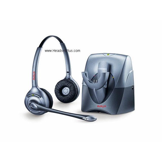 Avaya Awh 460n Binaural Noise Canceling Wireless Headset