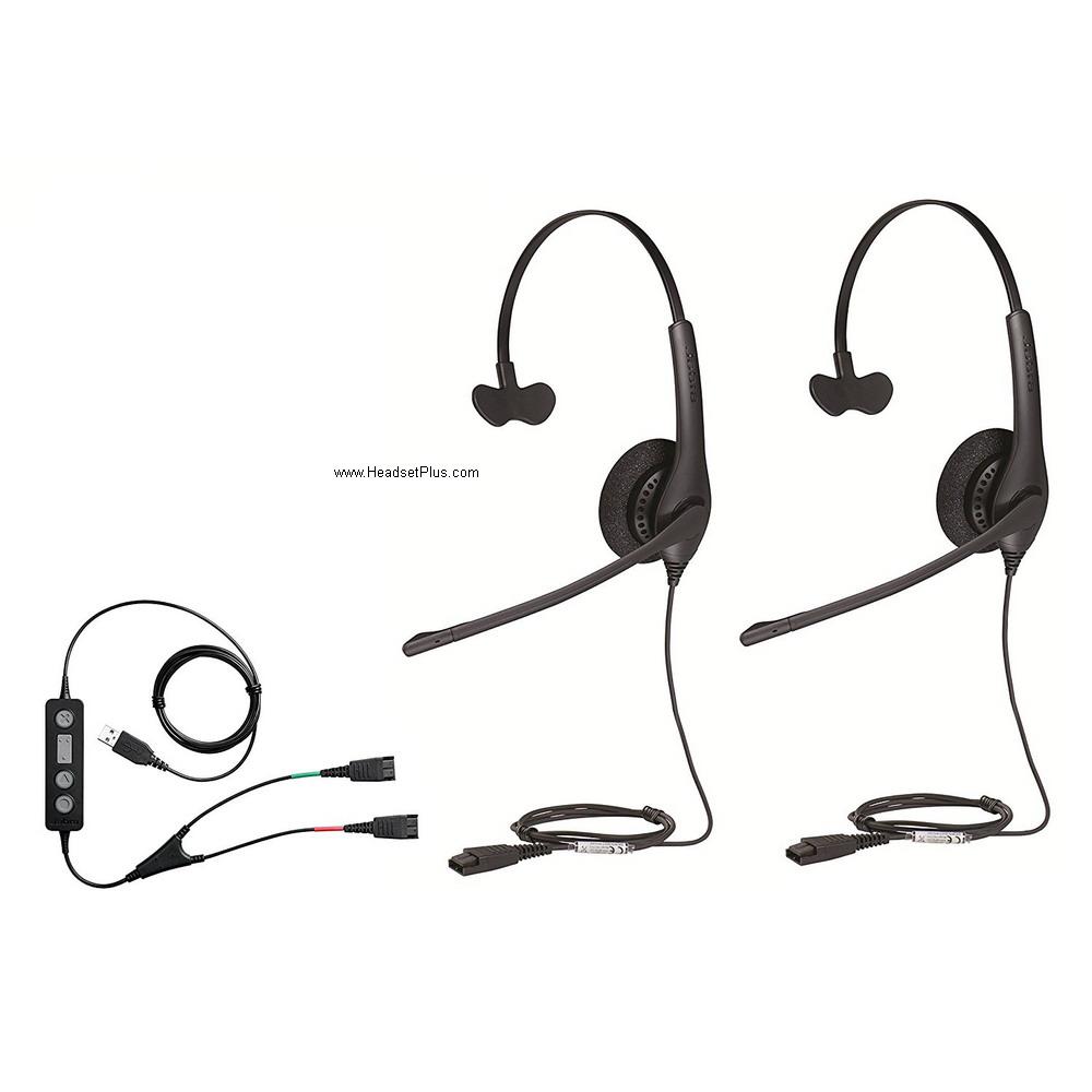 d7fd6ad9ae5 Jabra Soft Phone/PC Training Kit w/Two Jabra Biz 1500 Mono QD Headsets