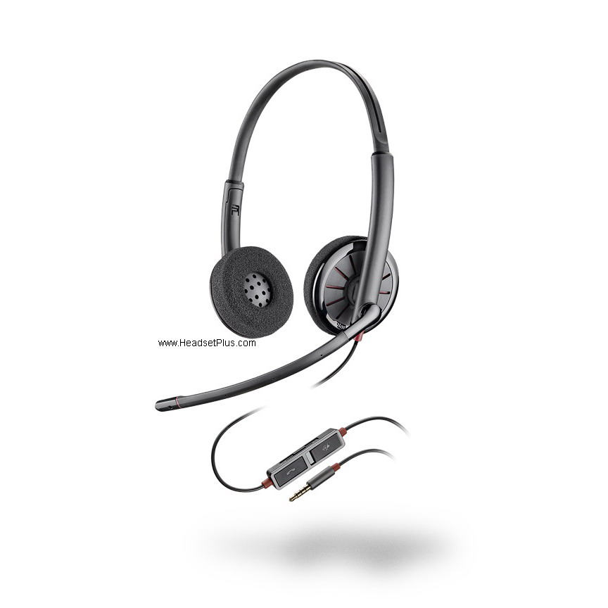 Plantronics Blackwire 225 C225 Stereo 3.5mm Headset *Discontinue