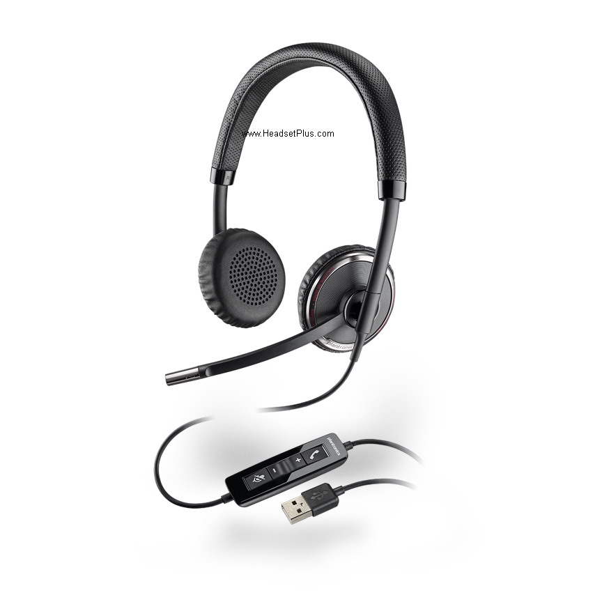 Plantronics C520 Blackwire Dual-Ear USB Headset *Discontinued*