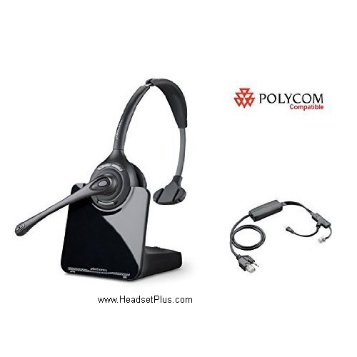 Plantronics CS510+EHS Remote Answer Bundle Polycom IP Phones