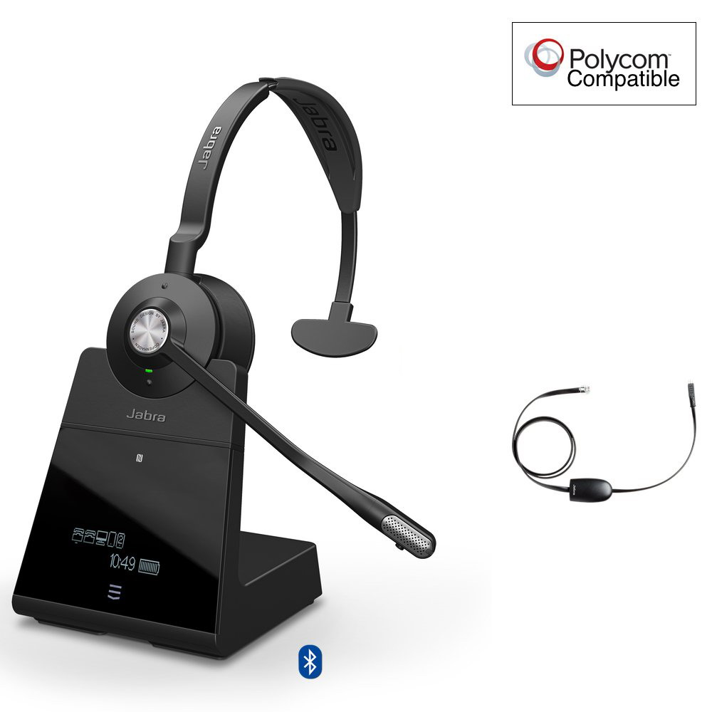 Jabra Engage 75 Mono + EHS Wireless Headset Polycom Certified
