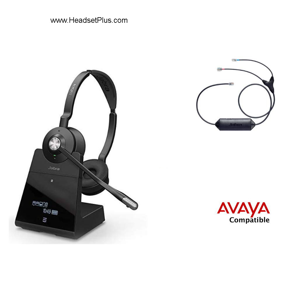 Jabra Engage 75 Stereo+EHS Avaya J100 1400 9400 9500 9600 Phones