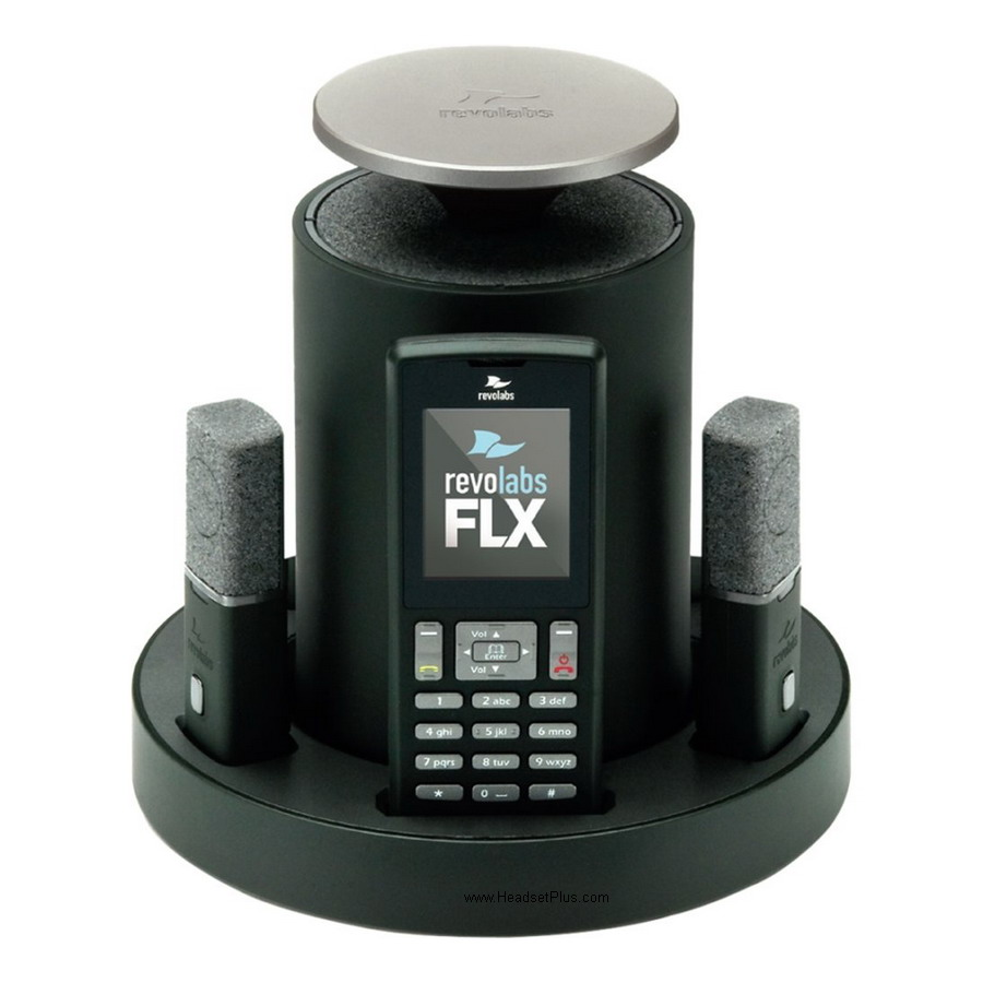Revolabs FLX Wireless Conference Phone w/2 Tabletop Mics