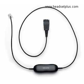 Jabra GN1210 QD to RJ-9 Cable with microphone amplification
