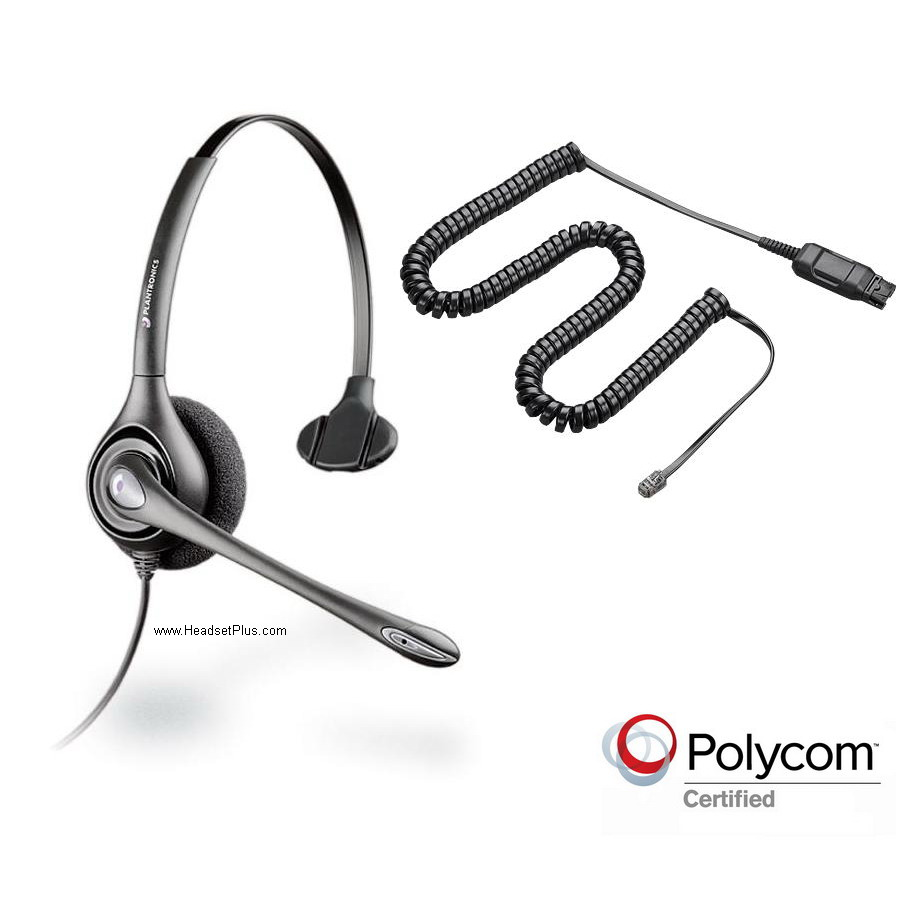 Plantronics HW251N-POLY Noise Canceling Polycom Headset *Discont