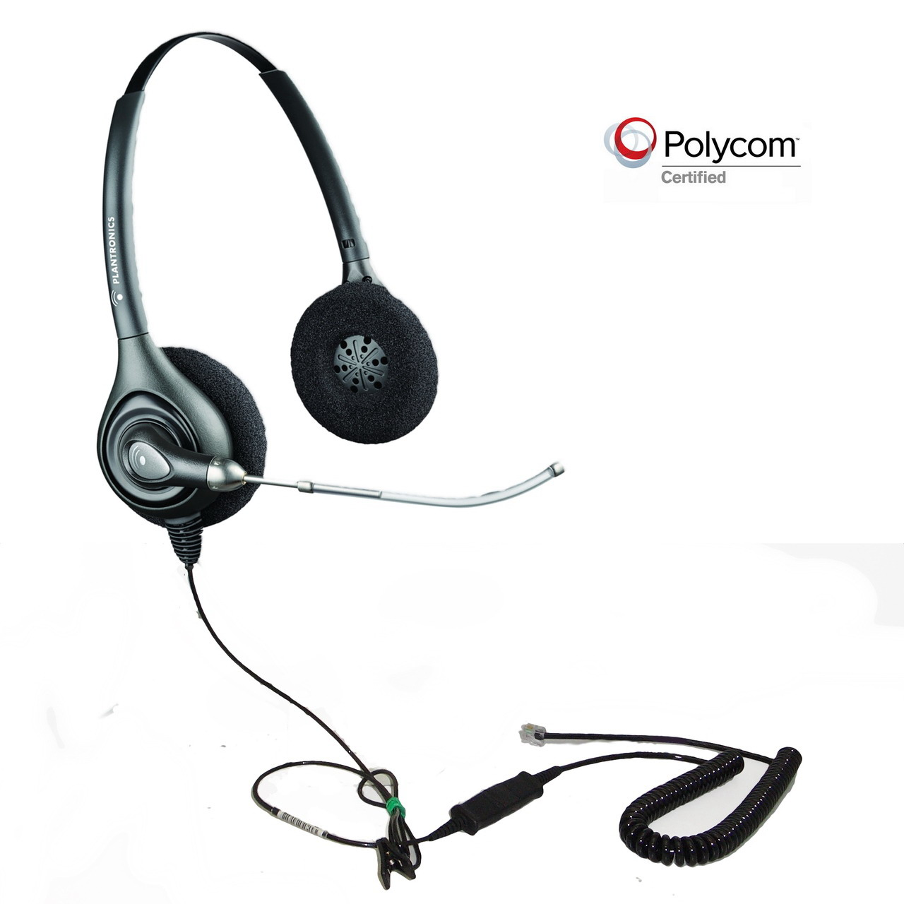 Plantronics HW261-POLY Polycom Compatible Binaural Voice Tube He