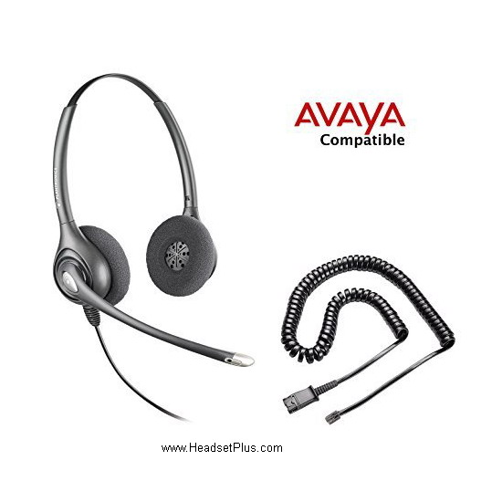 Plantronics HW261N-Avaya 1600 9600 Binaural Headset *Discontinue