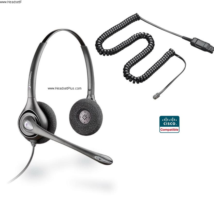 PLANTRONICS HW261N-CIS CISCO PHONE BINAURAL WIDEBAND ULTRA