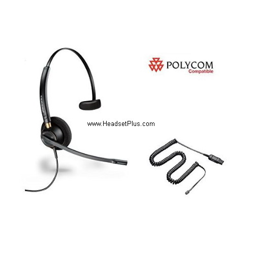 Plantronics HW510-POLY Polycom IP Phone Compatible Headset