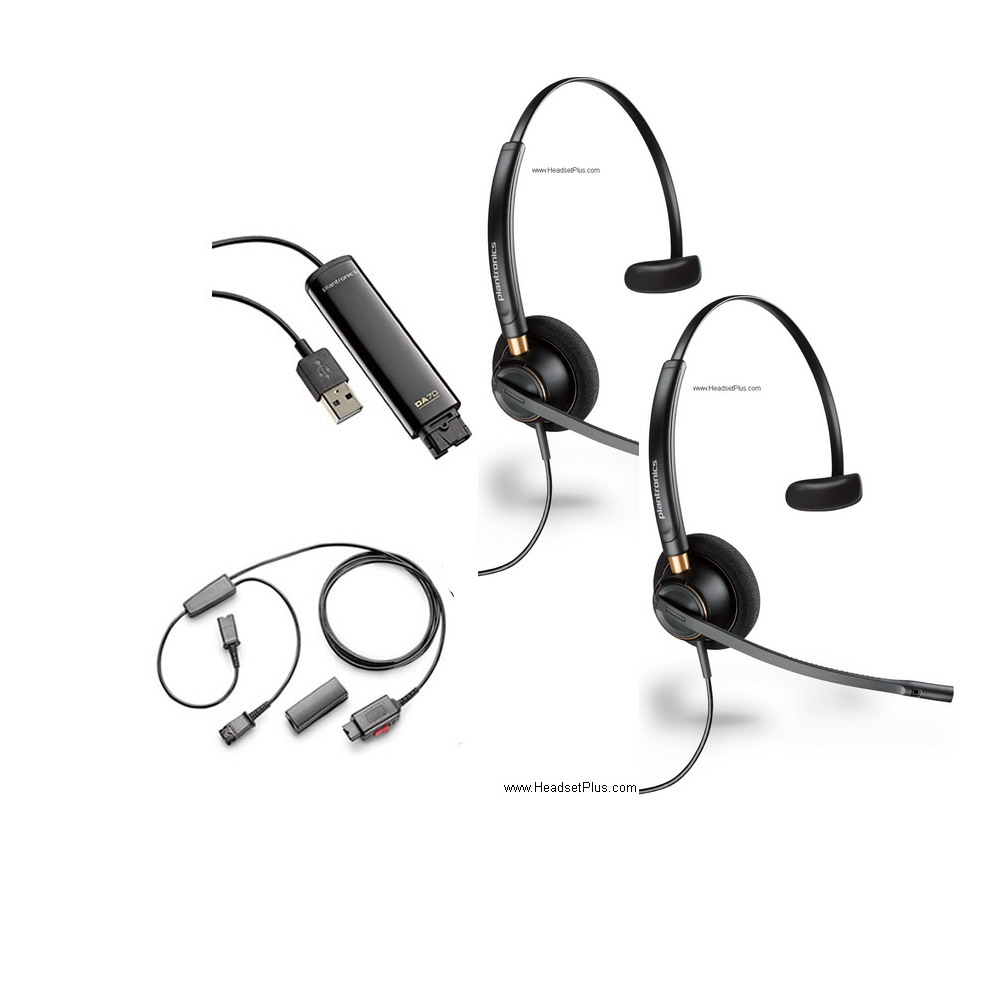Plantronics USB Training Bundle with 2 x HW510 Headsets