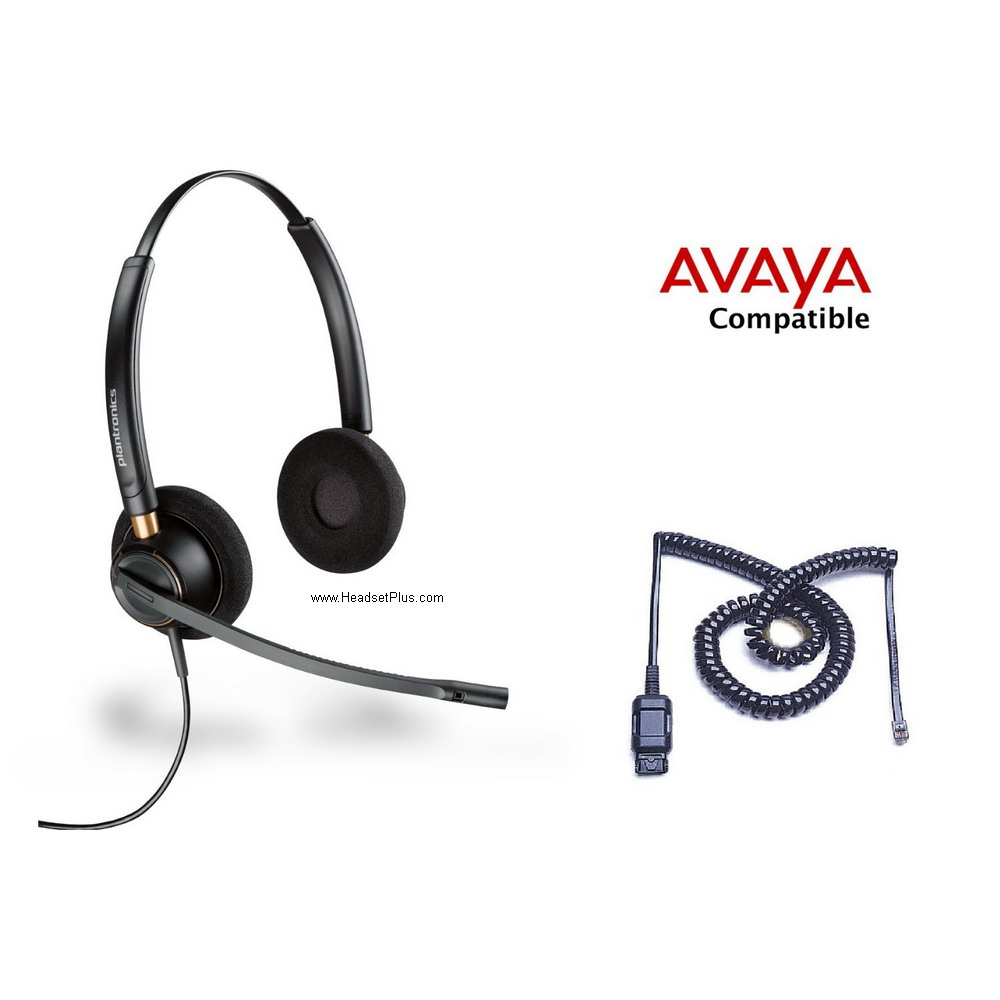 Plantronics HW520-Avaya 1600 9600 Phone Headset
