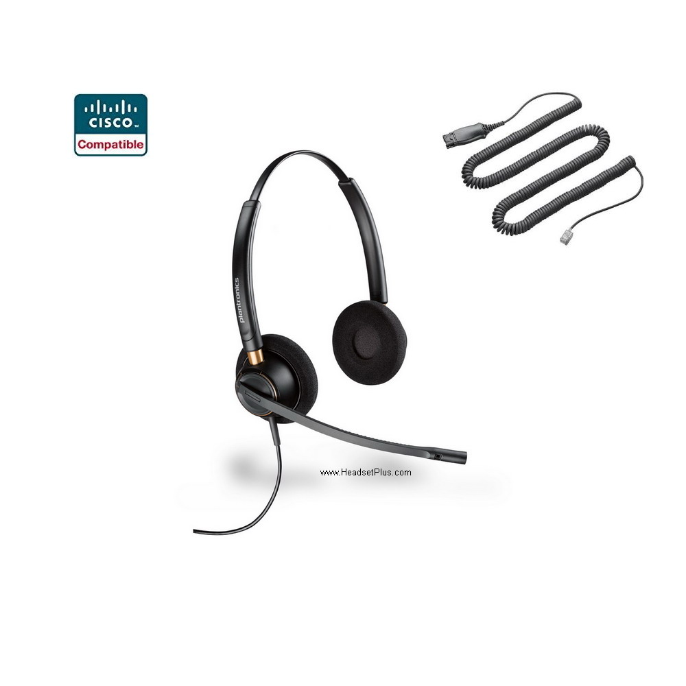 Plantronics HW520-CIS EncorePro Noise Canceling Cisco Headset