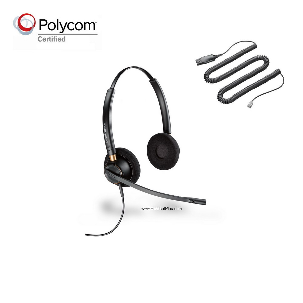 Plantronics HW520-POLY Polycom Phone Compatible Headset