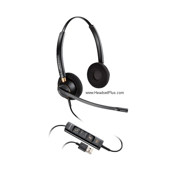 Plantronics EncorePro HW525 USB Headset MS Skype Certified