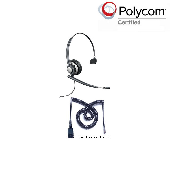 Plantronics HW710-POLY Polycom Phone Compatible Headset