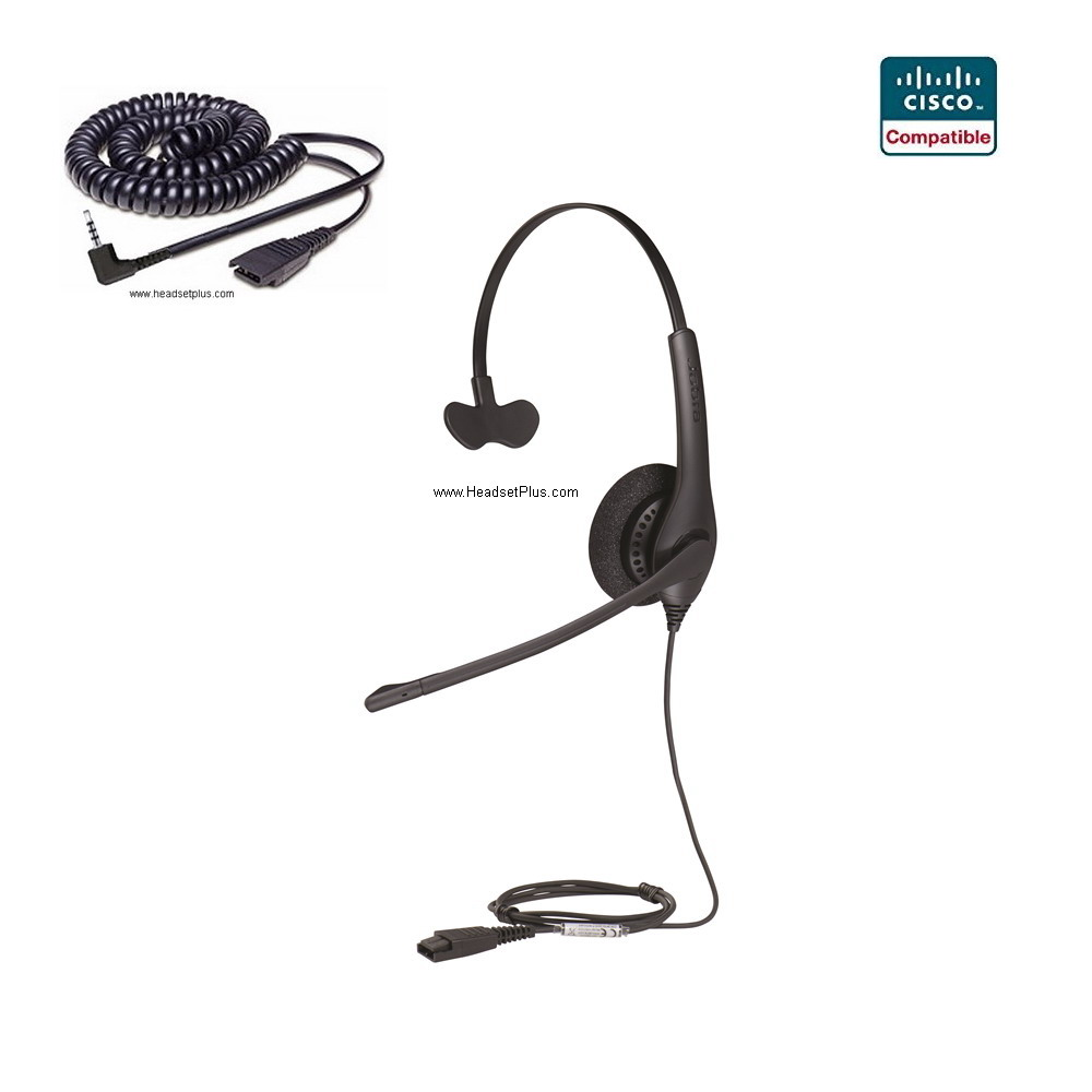 Jabra Biz 1500 Mono Cisco SPA 303, 5xx, 9xx Compatible Headset
