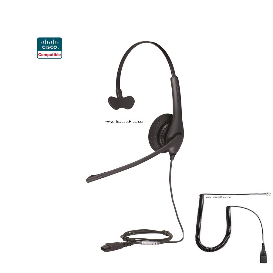 Jabra Biz 1500 Cisco 7900, 8900 IP Phone Compatible Headset
