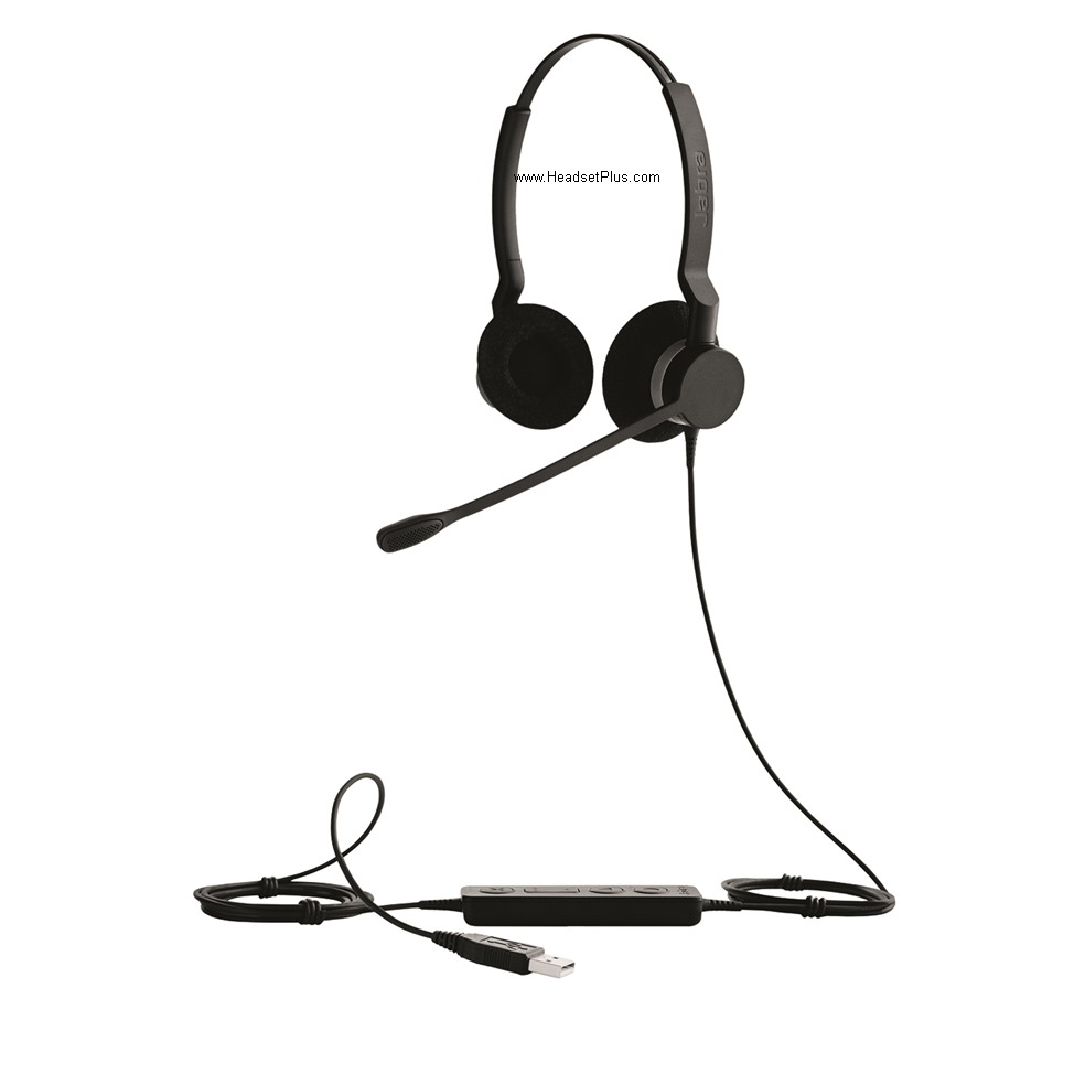 Jabra Biz 2300 USB UC Duo Binaural Noise Canceling Headset
