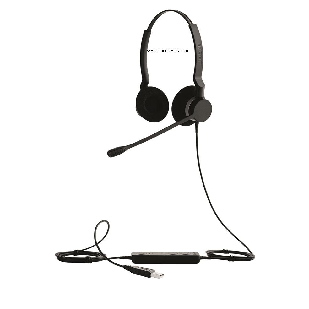 Jabra Biz 2300 USB UC Duo binaurale headset met ruisonderdrukking