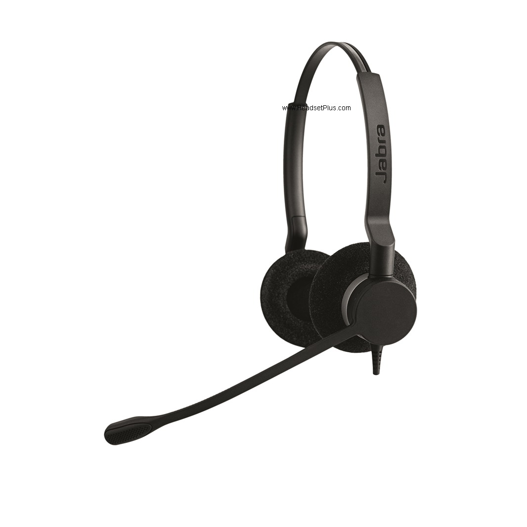 Jabra Biz 2300 USB UC Stereo Headset Black Leather Cushions