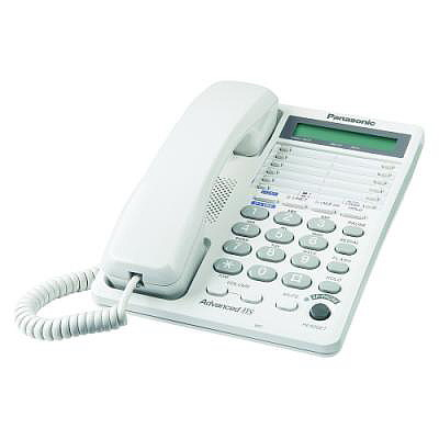Panasonic Kx Ts208 W 2 Line Telephone Two Line Speaker Phone