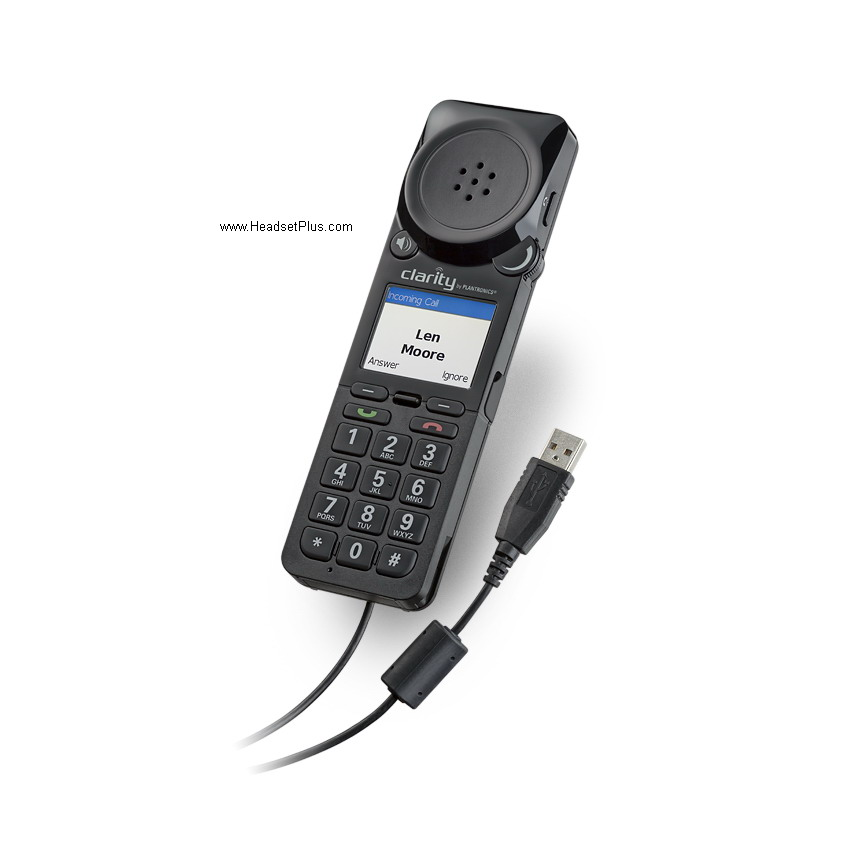 Plantronics Clarity 340 (P340-M) Amplified Handset MS Lync *Disc