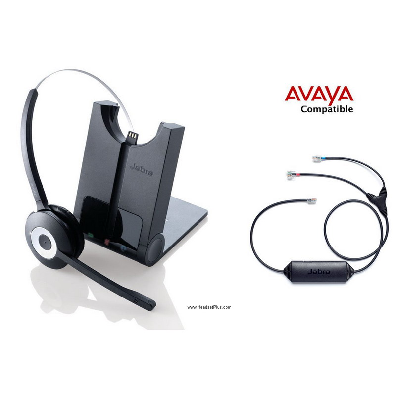 132e3013eaf JABRA Pro 920 Avaya IP Phone Wireless Headset EHS Remote Bundle
