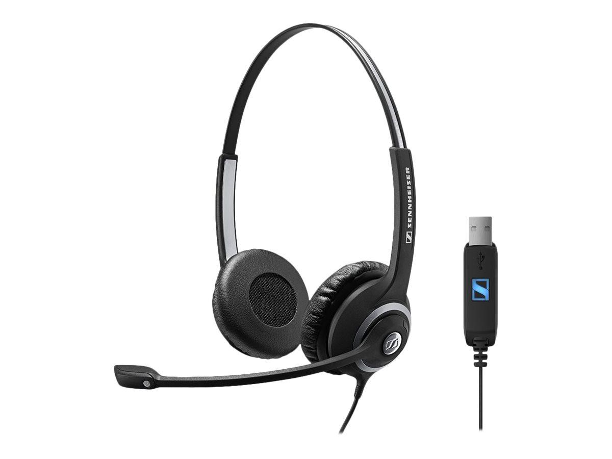 Sennheiser SC 260 USB PC Headset Microsoft Skype Certified