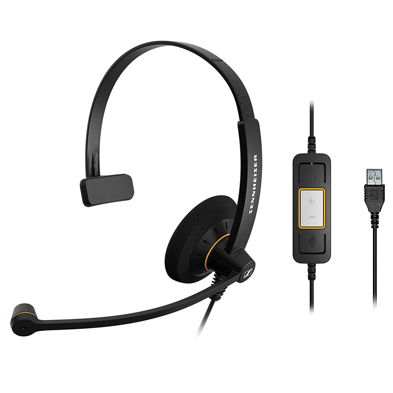 Sennheiser SC 30 USB ML Headset, Microsoft Skype Certified