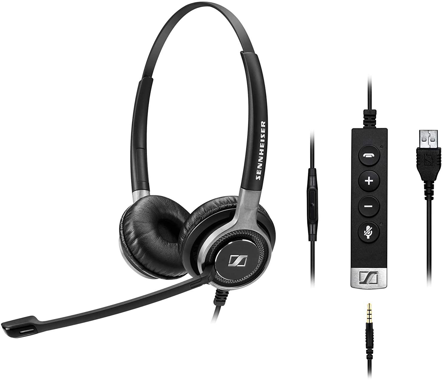 Sennheiser SC 665 USB-A Double Sided Headset w/3.5mm MS Teams